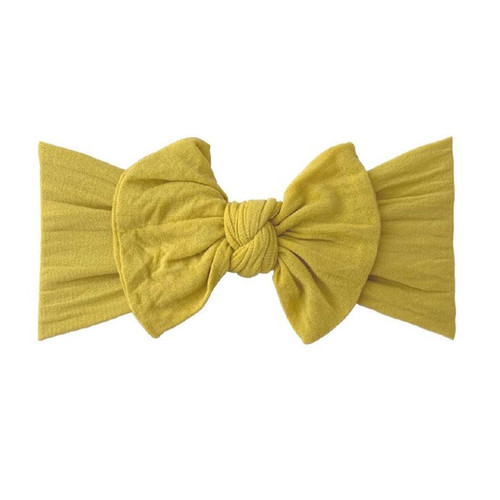 Classic Knot Bow, Mustard