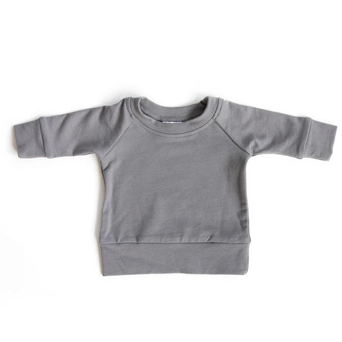French Terry Crewneck Sweatshirt, Slate