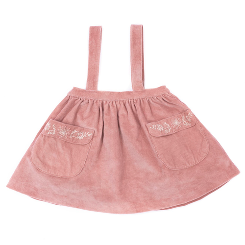 Adelaide Suspender Skirt, Canyon Rose