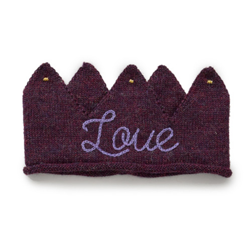 Oeuf Embroidered Crown, Mauve/Love