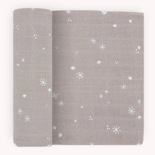 Muslin Swaddle, Snow Flurries