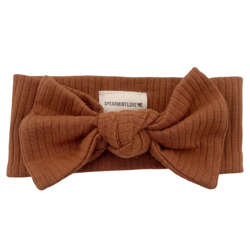Organic Ribbed Knot Bow, Cider