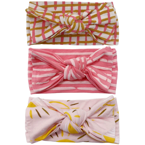 Knot Bow 3-Pack, PINKS!