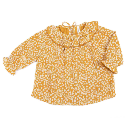Ruffle Top, Mustard Flowers