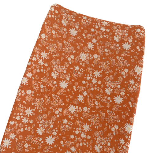 Muslin Changing Pad Cover, Daisy