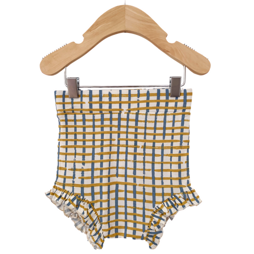 Ruffle Bloomer, Blue Check