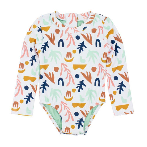 Wave Chaser Surf Suit, Abstract White