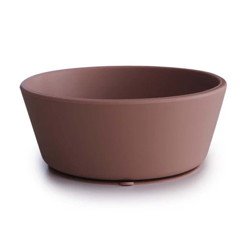 Silicone Suction Bowl, Cloudy Mauve