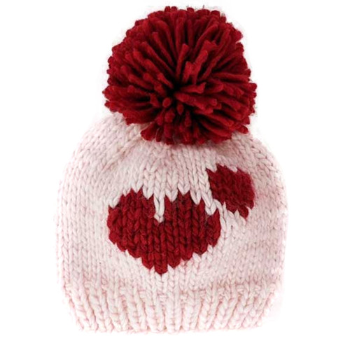 Sweetheart Knit Pom Hat