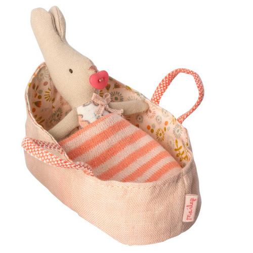 Micro Rabbit in Rose Carry Cot