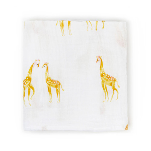 Organic Cotton Burp Cloth, Giraffe