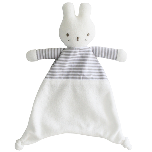 Bunny Security Blankie, Grey Stripe