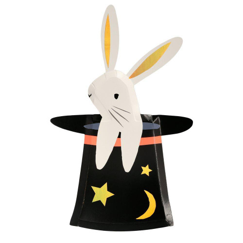 Magic Bunny in Hat Party Plates