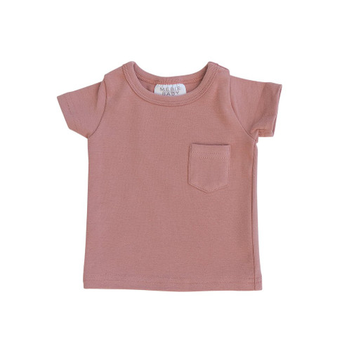 Short Sleeve Pocket Tee, Rose