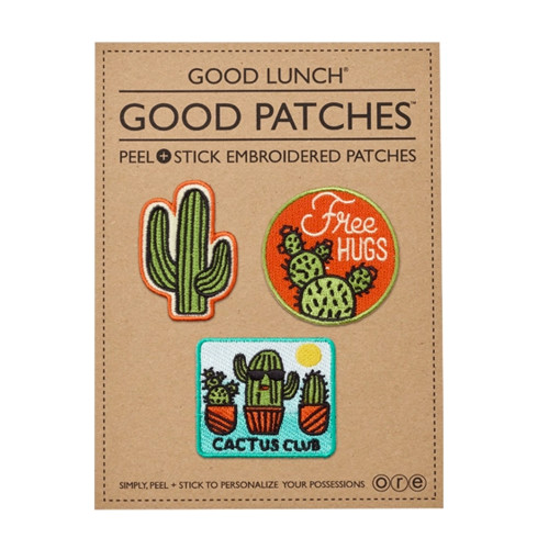 Peel & Stick Embroidered Patches, Cactus
