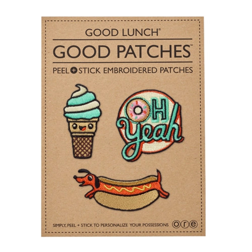 Peel & Stick Embroidered Patches, Foodie