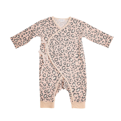 Coverall, Pink Leopard