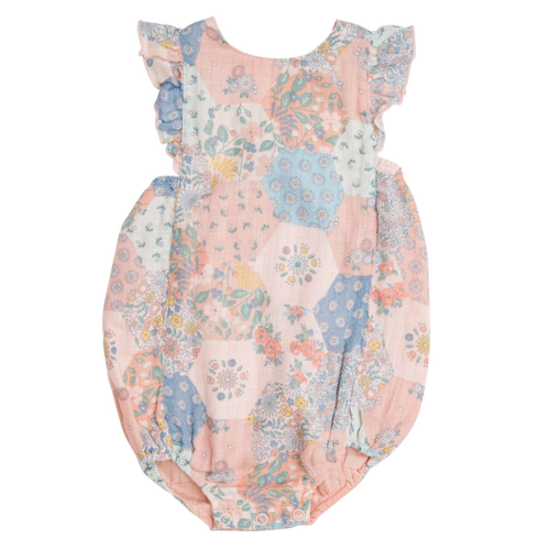 Ruffle Sunsuit, Vintage Patchwork