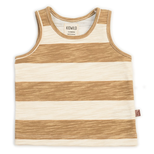 Organic Tank, Stripe Honey