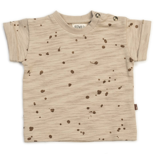 Organic Tee, Splatter Wheat