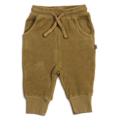 Organic Terry Joggers, Olive