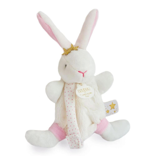 Star Pink Bunny Plush Pacifier Holder