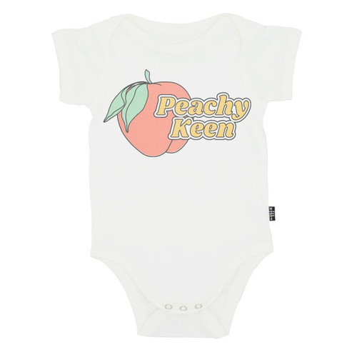 Graphic Bodysuit, Peachy Keen