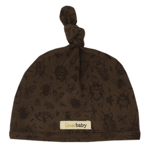 Organic Knotted Hat, Don't Bug Me! Bark