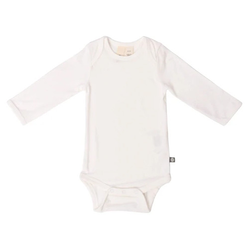 Long Sleeve Bamboo Bodysuit, Cloud