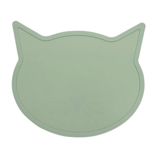 Cat Shaped Silicone Placemat, Jade