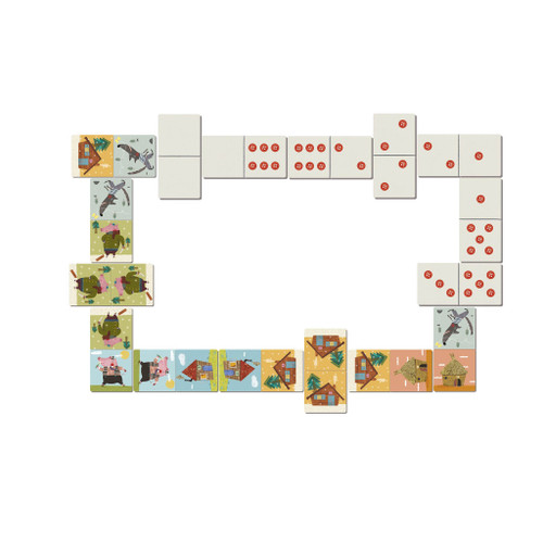 Three Little Pigs Domino Game
