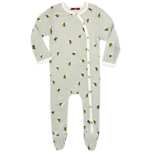 Bamboo Footed Romper, Bumblebee
