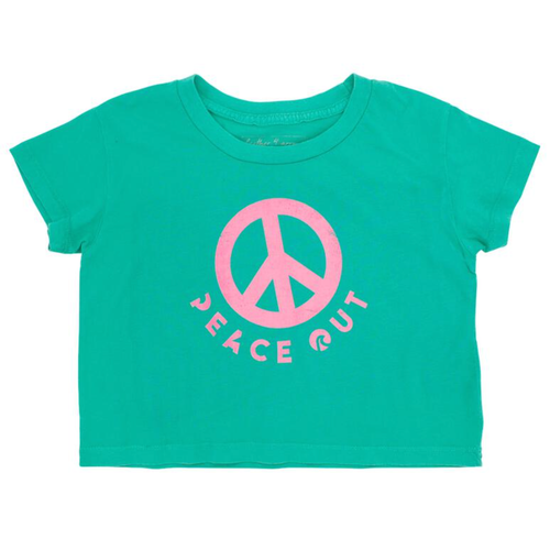 Cropped Tee, Peace Out
