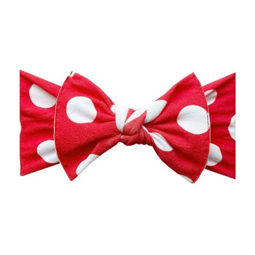Knot Bow, Red Polka Dot