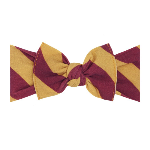 Knot Bow, Burgundy/Gold