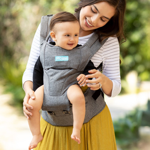 Moby 2 - in - 1 Carrier + Hip Seat, Grey