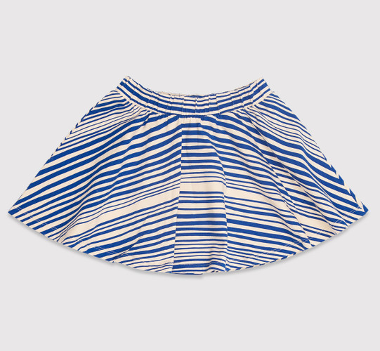 Mini Rodini Stripe Skirt, BLUE