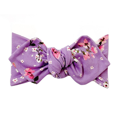 Top Knot Headband, Lavender Floral