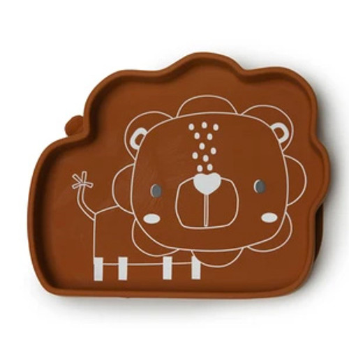 Silicone Suction Snack Plate, Lion