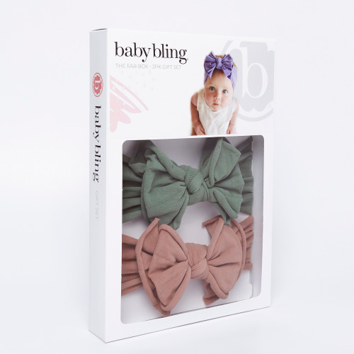 2-Pack FAB-BOW-LOUS Set, Fern & Putty