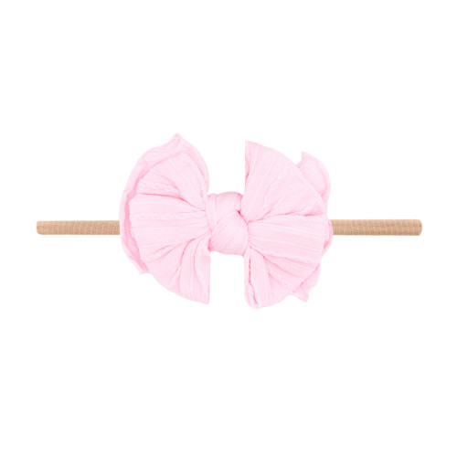 Cable Knit Lil FAB Skinny Bow, Pink