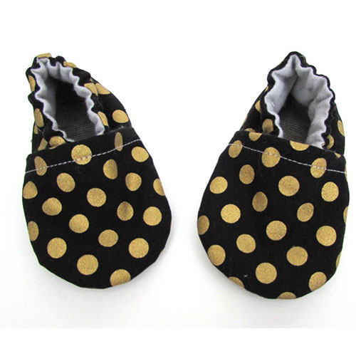 Baby Shoes, Gold Dot