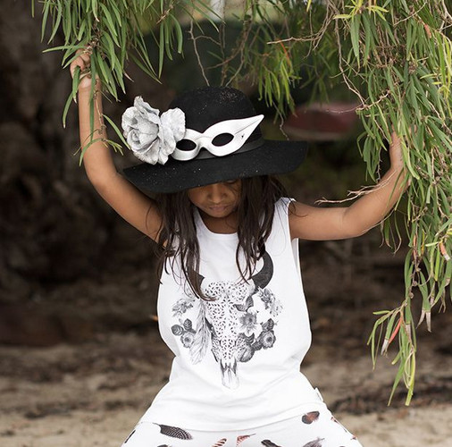 Feather Drum Muscle Tee By The Horns