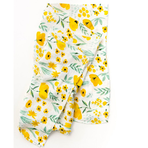 Buttercup Blossom Muslin Swaddle