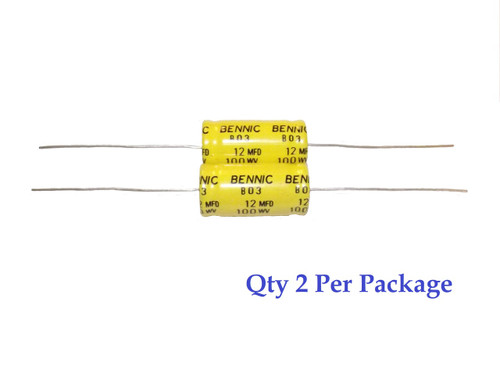 12uF 100v Non-Polarized Electrolytic Axial Lead Capacitor (2 Pieces) (NP BP)