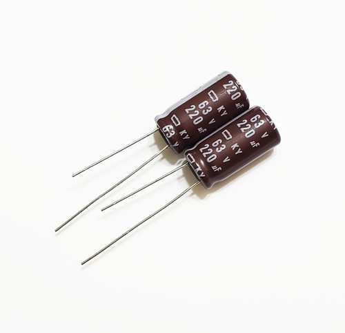 220uF 63v Electrolytic Radial Lead Capacitor NCC (2 Pieces)