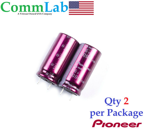 3000uF 16v Pioneer Audio Electrolytic Radial Lead Capacitor BM -  (2 Pcs)