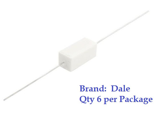 390 Ohm 5 Watt (5W) 10% DALE Brand Ceramic Cement Power Resistor (6 Pieces)