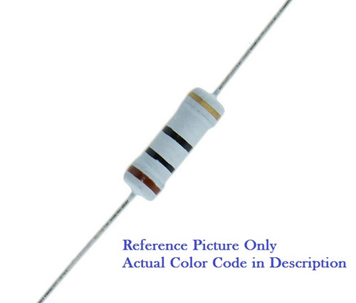 1.2 Ohm 2 Watt (2W) 5% Tolerance Metal Oxide Film Resistor (10 Pieces)
