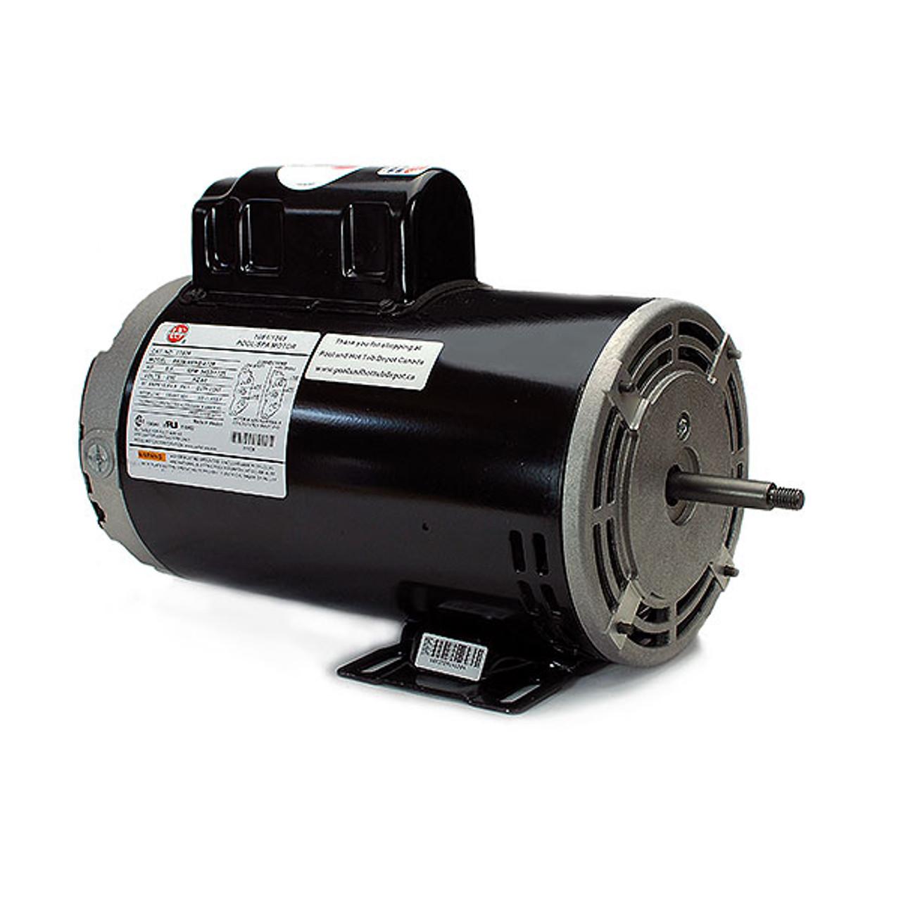 2 hp 56Y Frame 230V 2-sd hot tub pump motor Xp Hot Tub Motor Wiring Diagram on